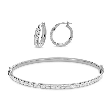 Sterling Silver 2-pc. Jewelry Set, One Size , No Color Family