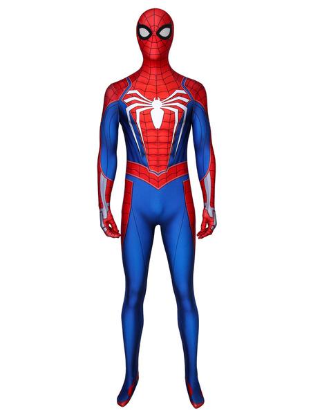 Milanoo Marvel Comics Spider Man Marvel Comics Cosplay Costume Lycra Spandex Adults Catsuits
