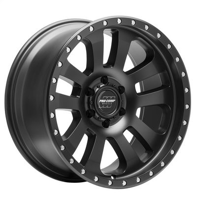 Pro Comp 46 Series Prodigy, 18x9 Wheel with 6x5.5 Bolt Pattern - Satin Black - 7046-8983