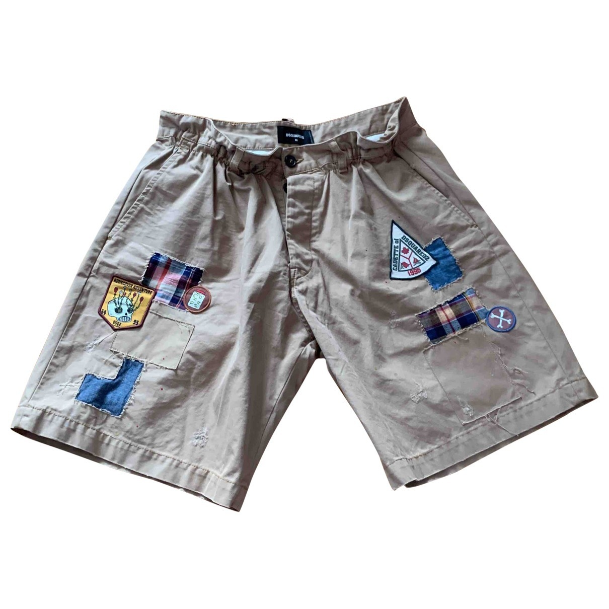 Dsquared2 \N Khaki Cotton Shorts for Men 48 IT