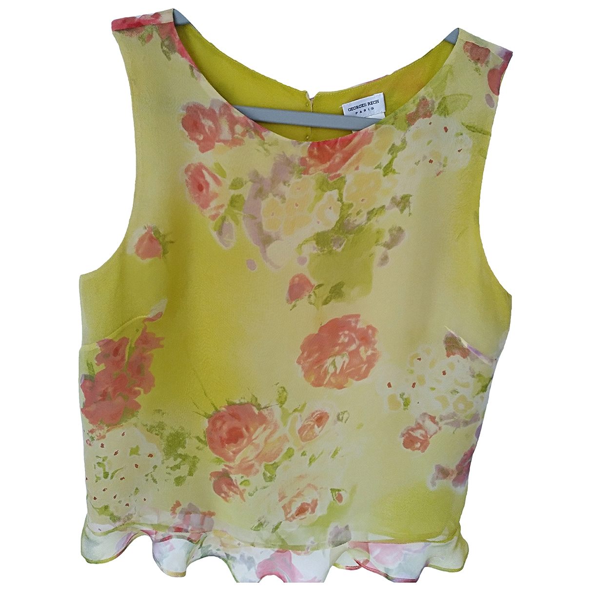 Georges Rech \N Yellow Silk  top for Women 36 FR