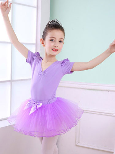Milanoo Ballet Dance Costume For Kids Lilac Tutu Leotard Performance Dress