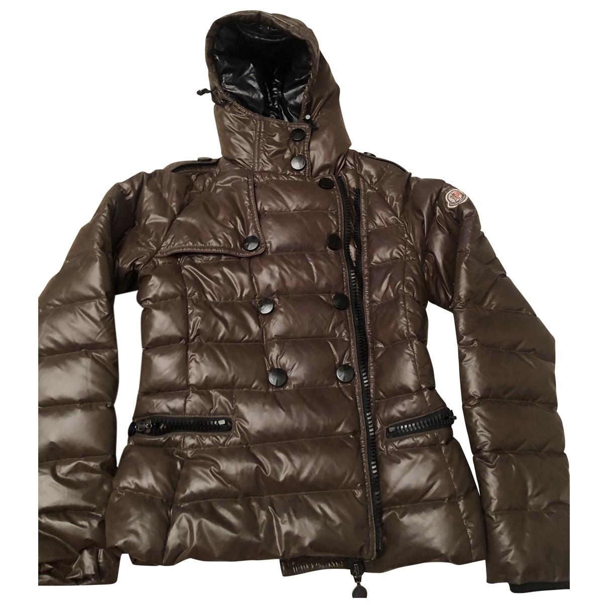 Moncler Hood Khaki coat for Women 0 0-5