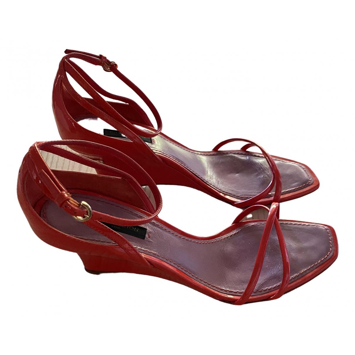 Louis Vuitton \N Orange Patent leather Sandals for Women 37 EU