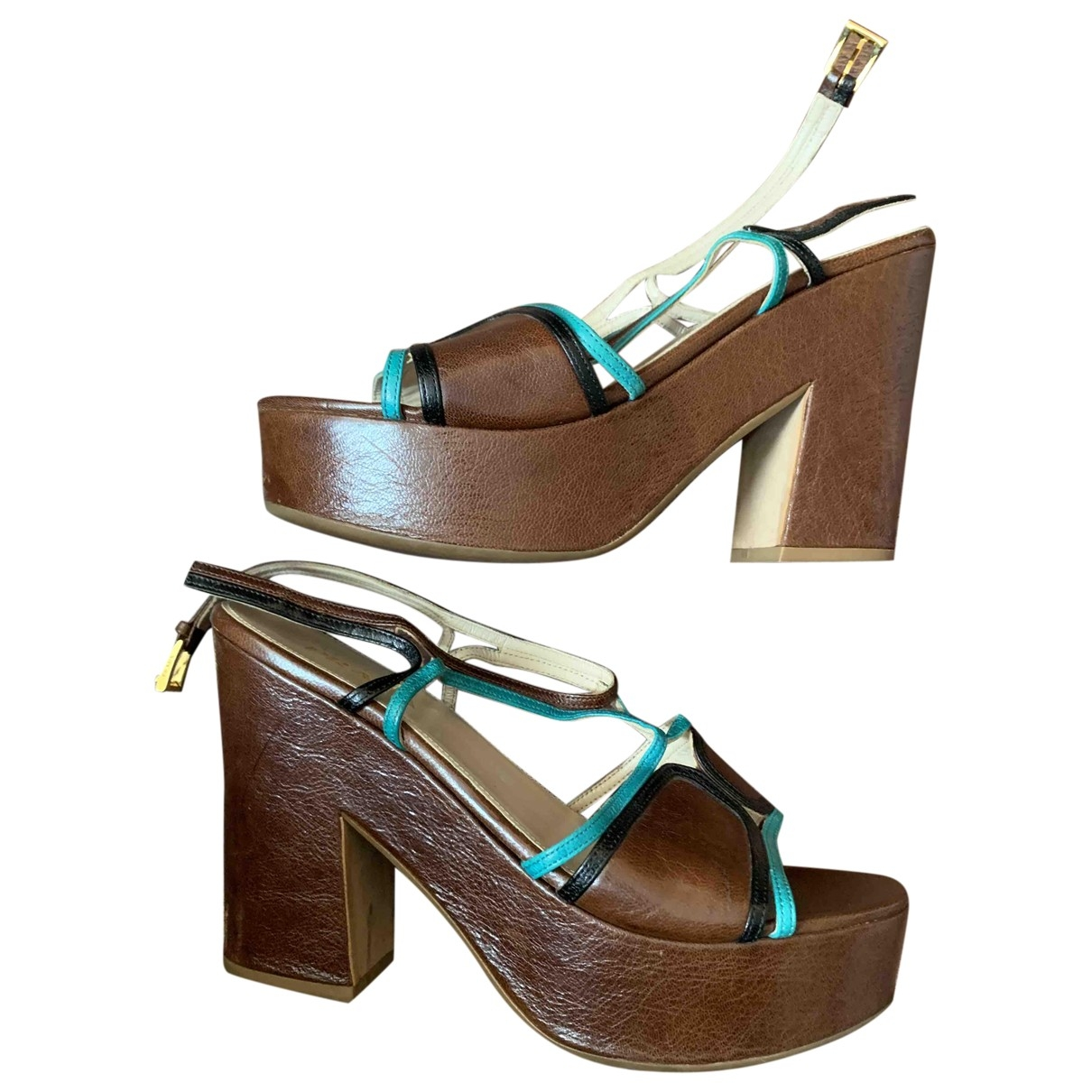 Prada \N Brown Leather Sandals for Women 39 EU
