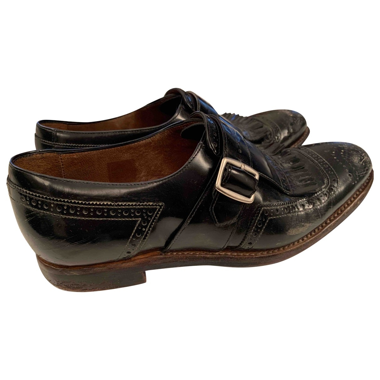 Church's \N Black Leather Lace ups for Women 37.5 EU