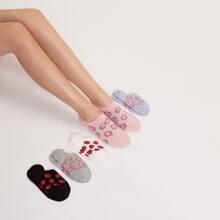 5pairs Strawberry Pattern Socks