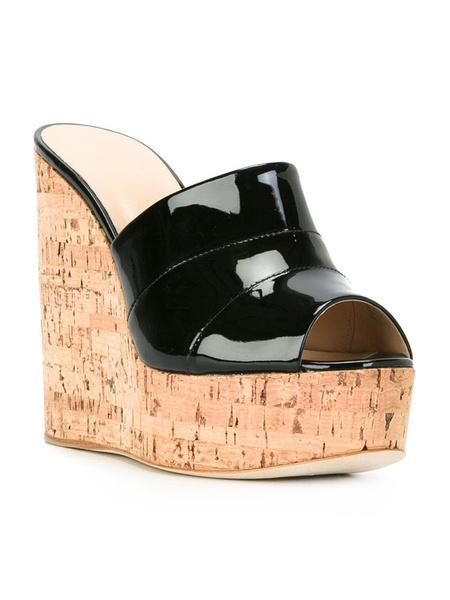 Milanoo Gold Sexy Sandals Platform Peep Toe Wedge Sandals For Women