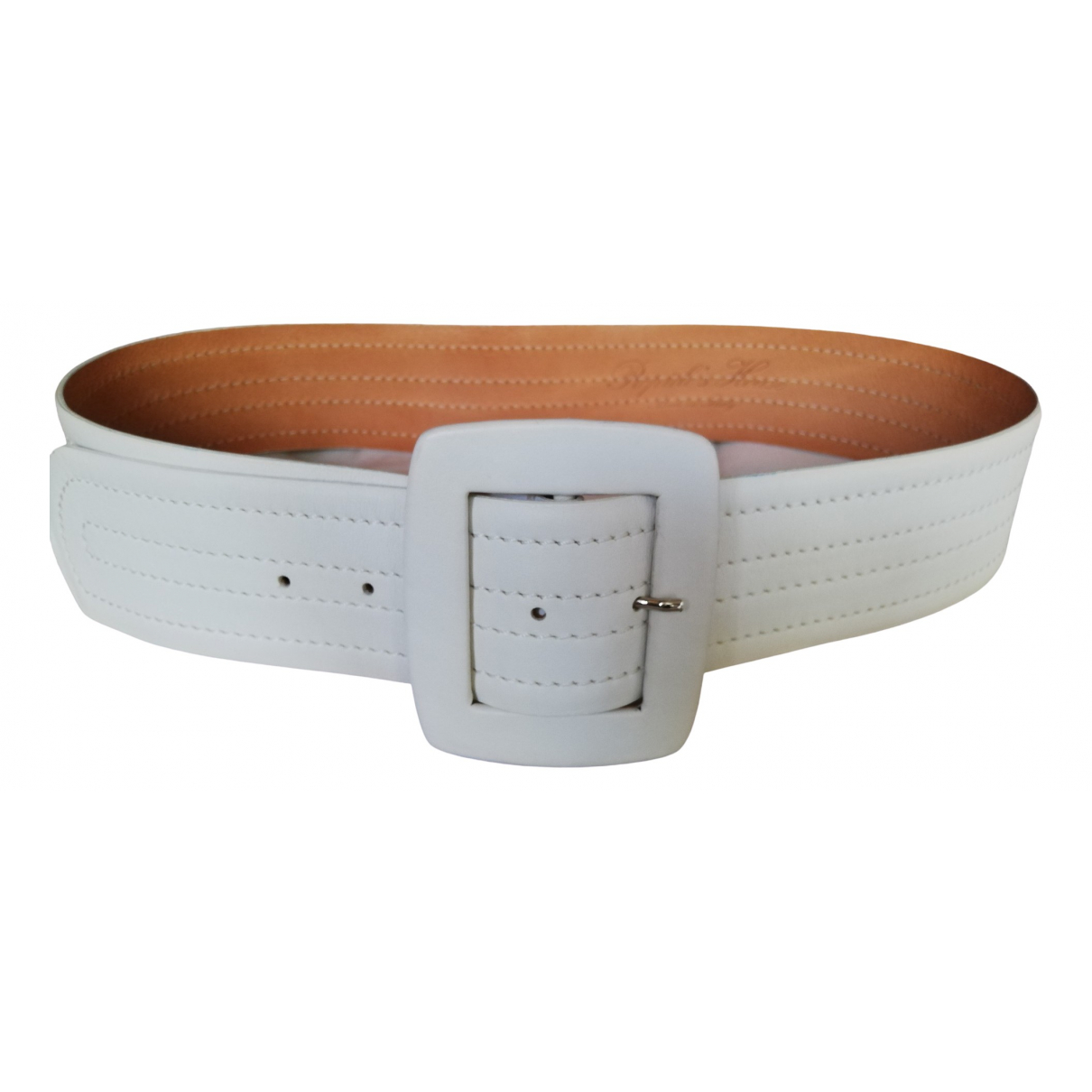 Reptile's House \N White Leather belt for Women 85 cm