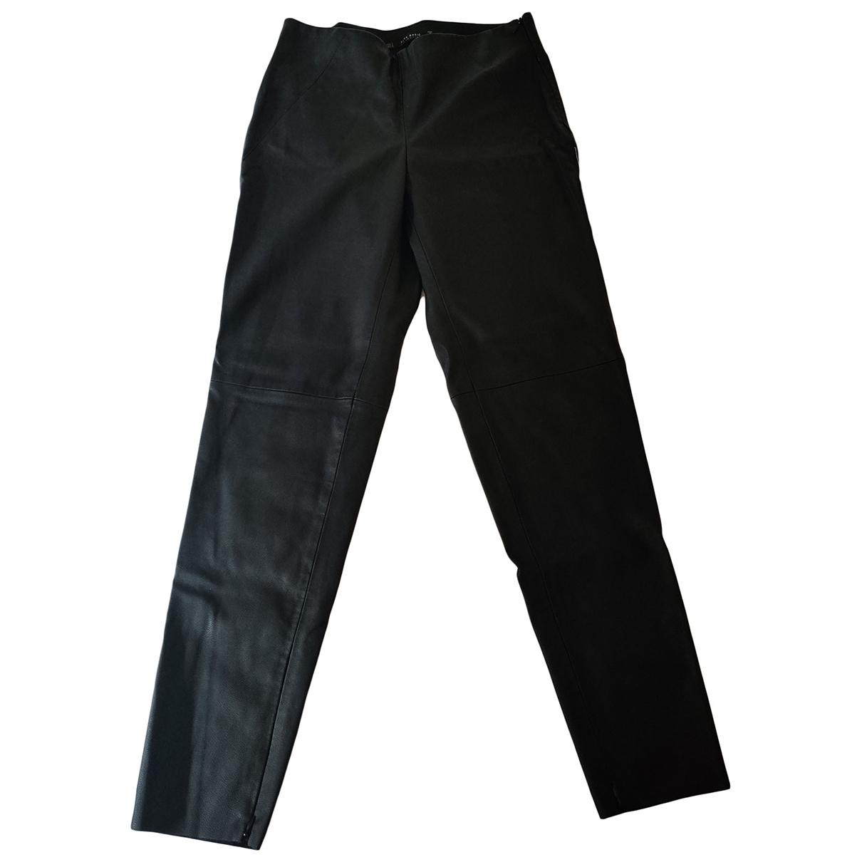 Zara \N Black Leather Trousers for Women S International