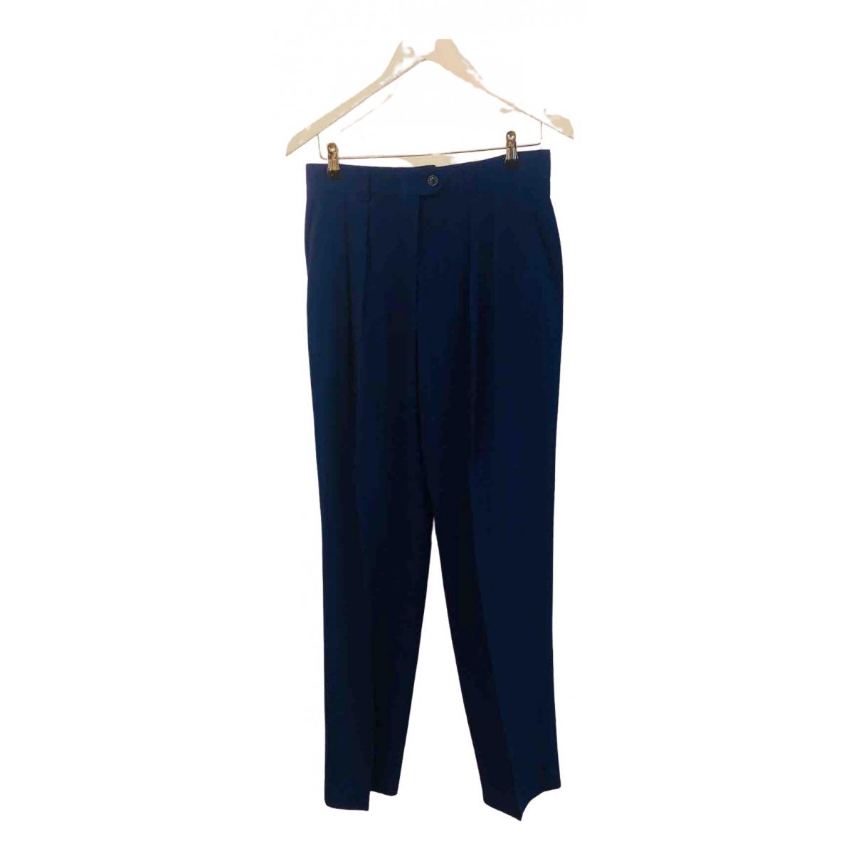 Escada \N Blue Wool Trousers for Women 44 FR