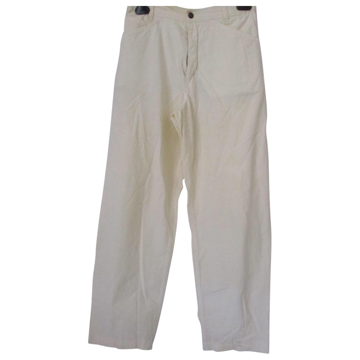 Valentino Garavani \N Cotton Trousers for Women 42 IT