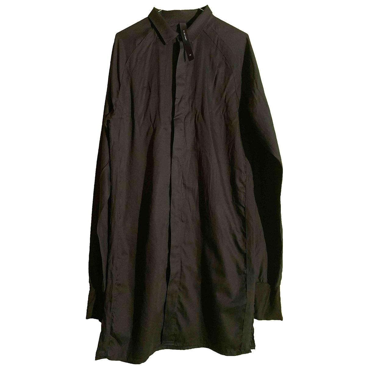 Non Signé / Unsigned Oversize Black Cotton Shirts for Men M International