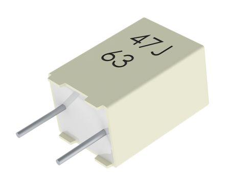 KEMET 22nF Polyester Capacitor PET 140 V ac, 250 V dc ±5%, Through Hole (10)