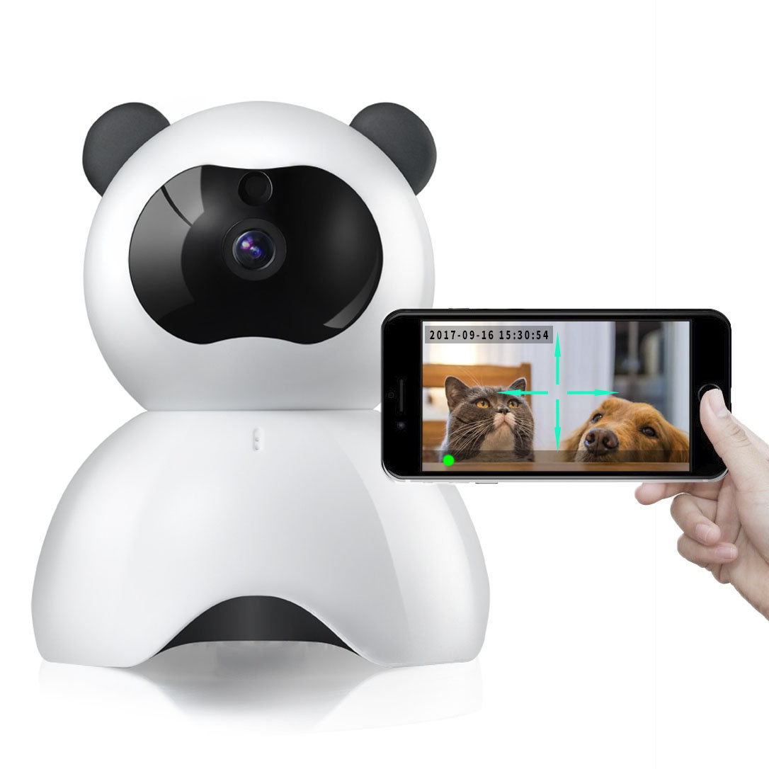 Pet Monitor 720P HD Wireless Dog Monitor Two-way Audio Indoor Home Security IP Camera Night Vision