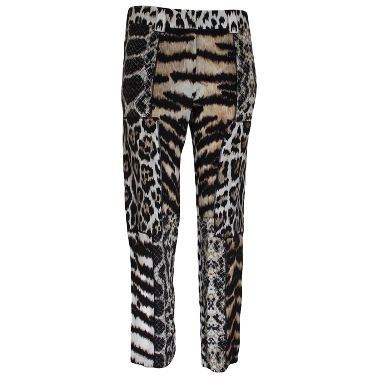 Roberto Cavalli \N Silk Trousers for Women 40 IT