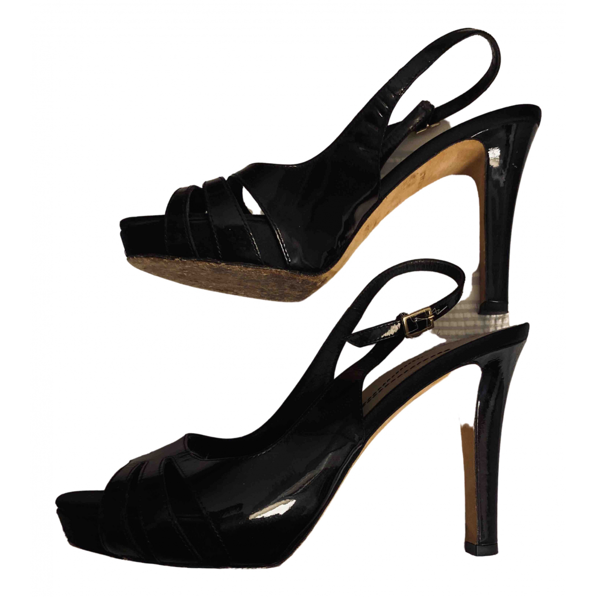 Kate Spade \N Black Patent leather Sandals for Women 6.5 US