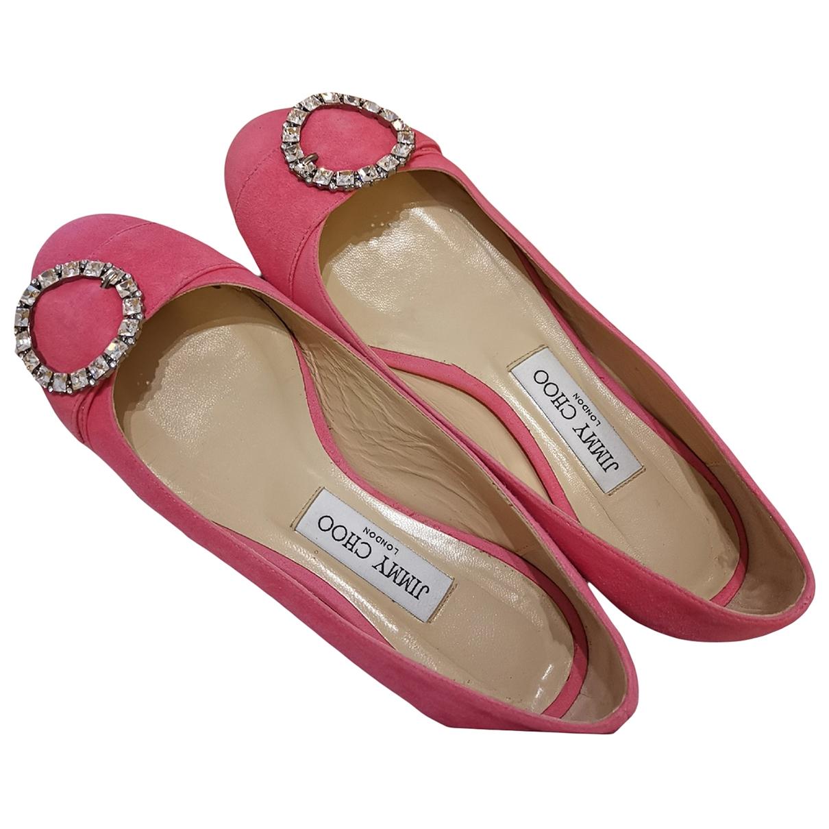 Jimmy Choo \N Pink Suede Ballet flats for Women 38 EU