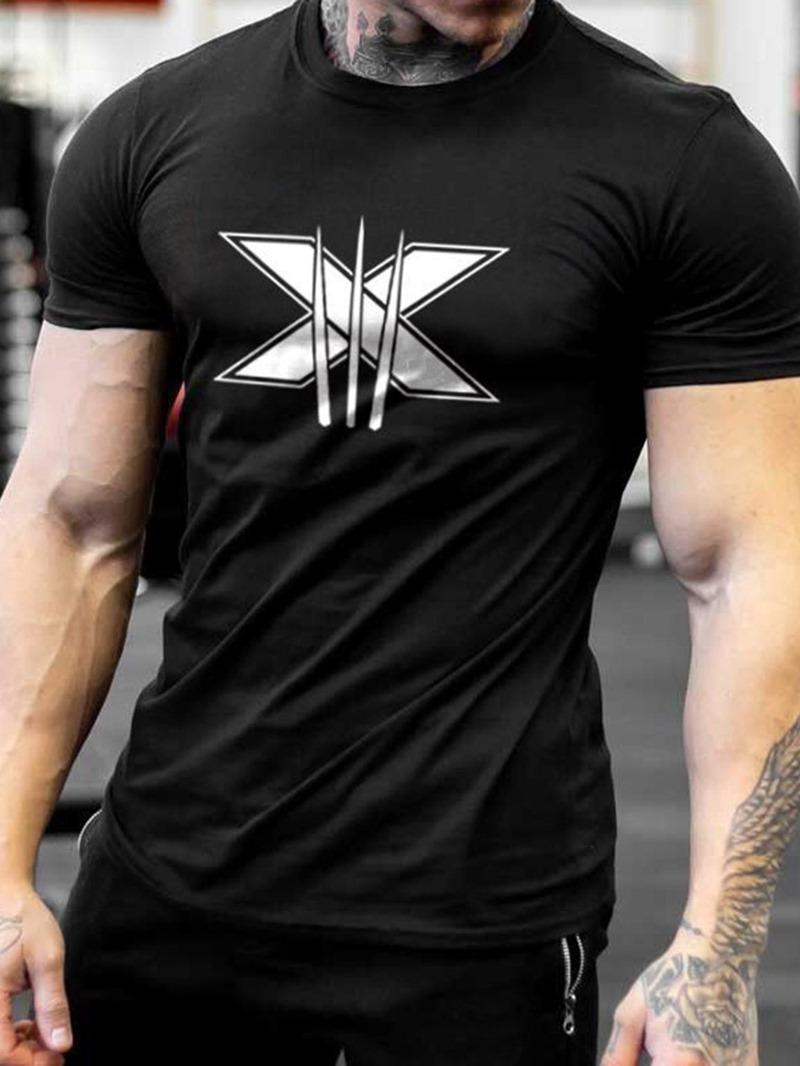 Ericdress Round Neck Casual Men's Slim Short Sleeve T-shirt