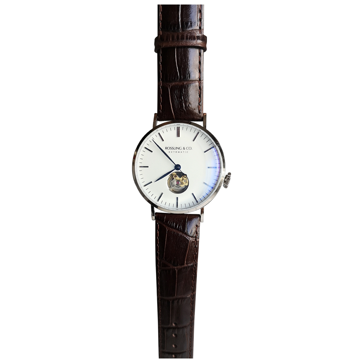 Non Signé / Unsigned \N Brown Steel watch for Women \N