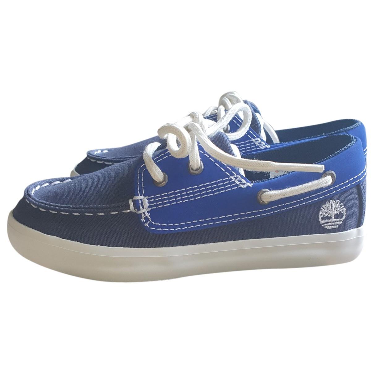 Timberland \N Blue Cloth Flats for Kids 25 EU