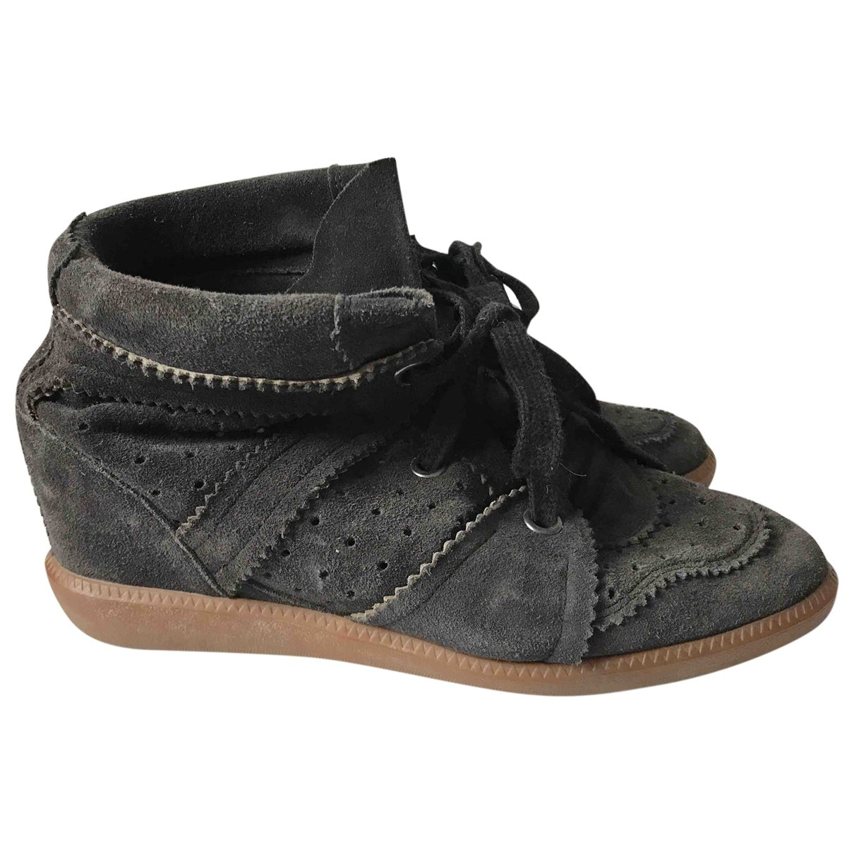Isabel Marant Betty Black Suede Trainers for Women 40 EU