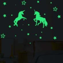 Unicorn Print Luminous Wall Sticker