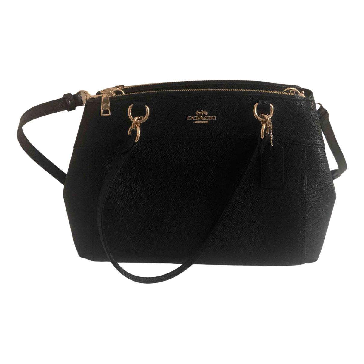 Coach Crossgrain Kitt Carry All  Black Leather handbag for Women \N