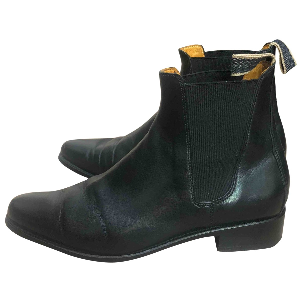 Ludwig Reiter \N Black Leather Ankle boots for Women 6.5 UK