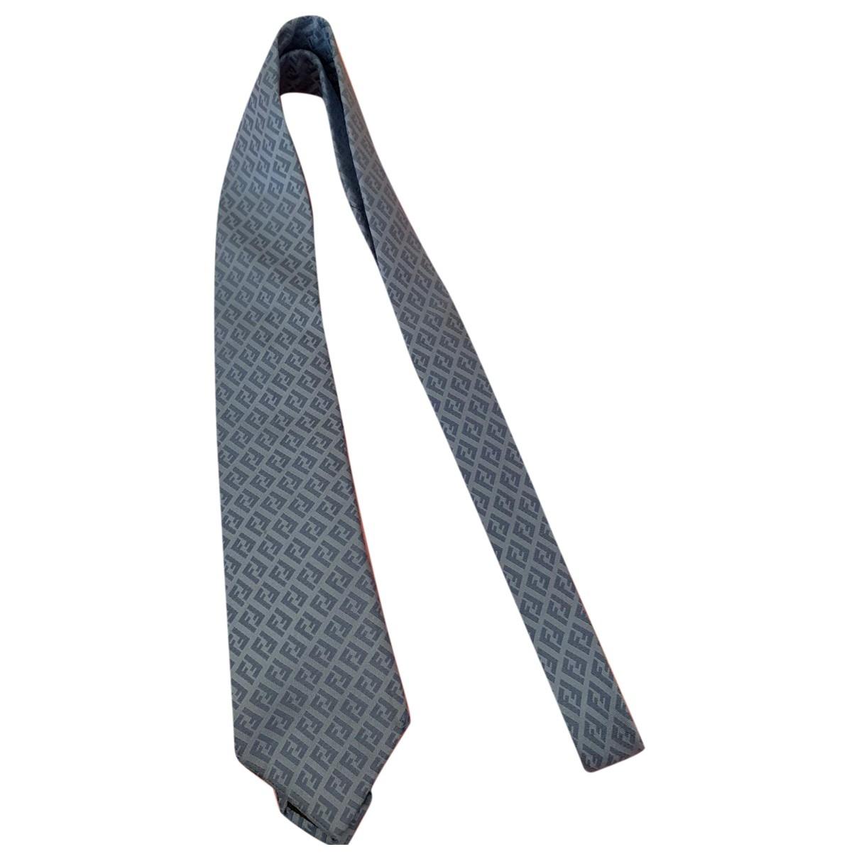 Fendi \N Blue Silk Ties for Men \N
