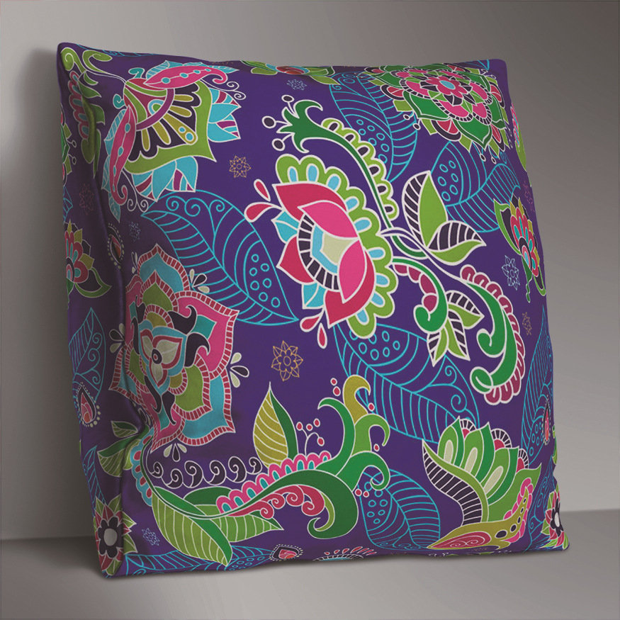 Double-sided Bohemian Floral Cushion Cover Home Sofa Office Soft Throw Pillowcases Art Decor