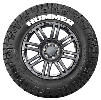 Tire Stickers HUMMER-1416-15-4-G Permanent Raised Rubber Lettering 'HUMMER' Logo - 4 of each -   14