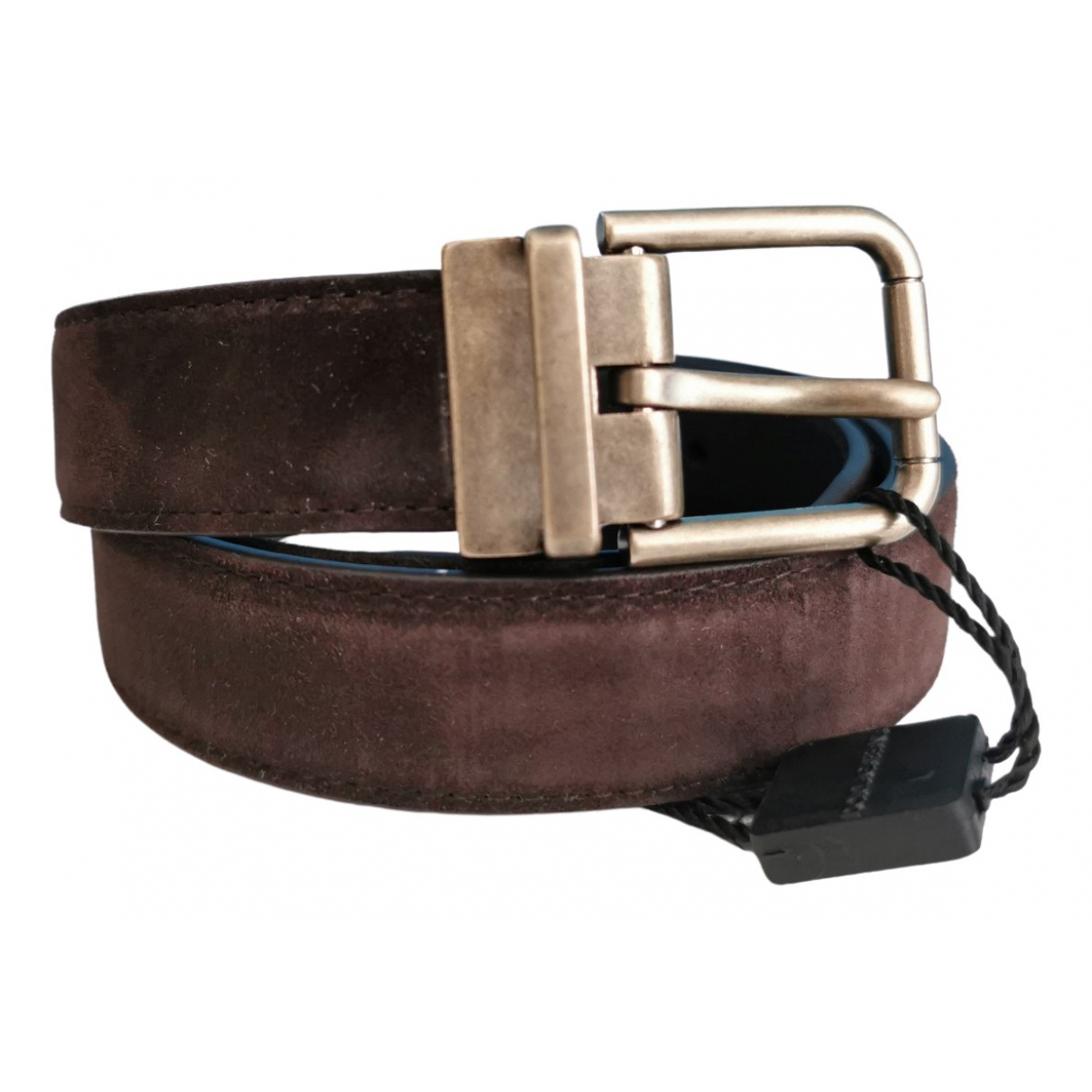 Dolce & Gabbana \N Brown Suede belt for Women 85 cm