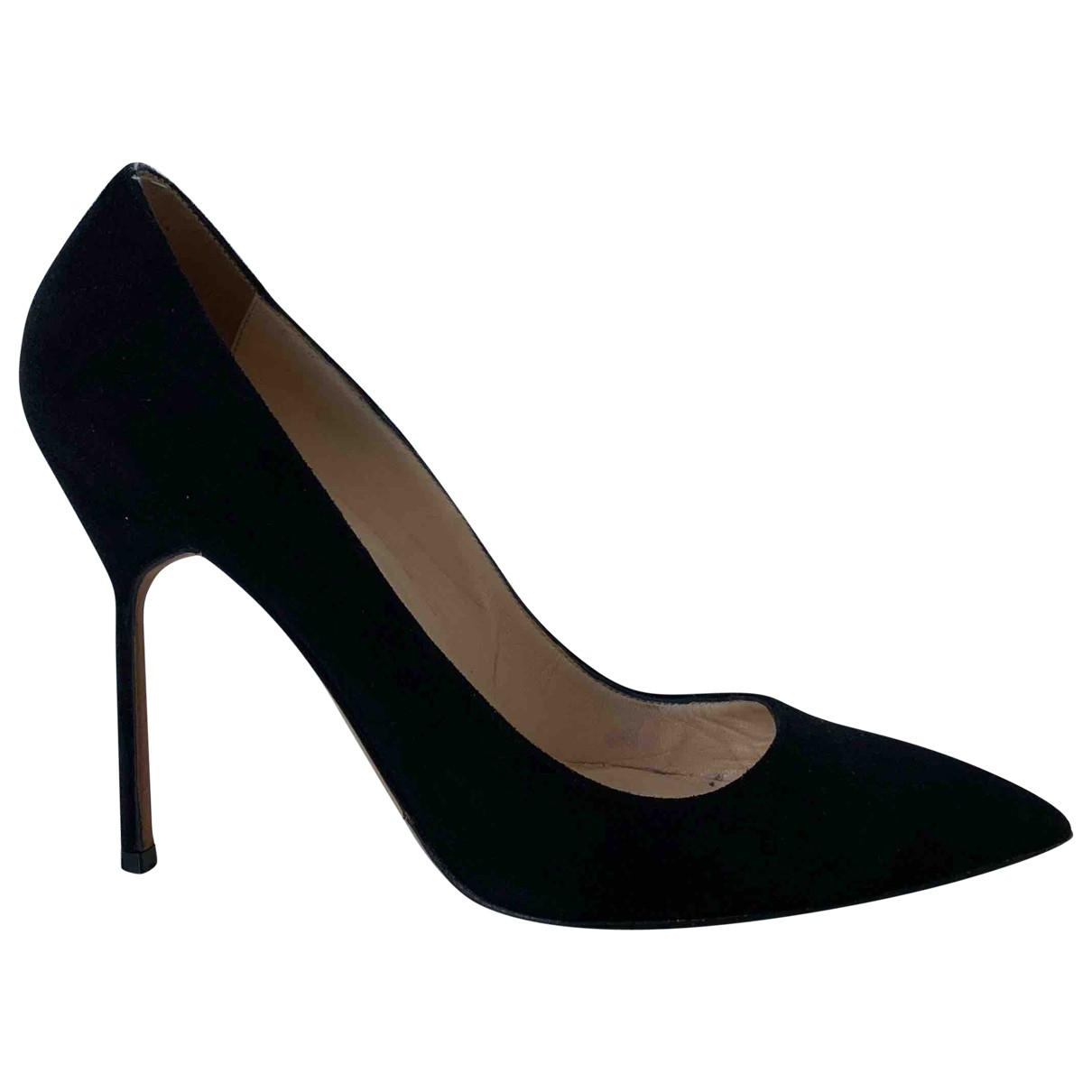 Manolo Blahnik \N Black Suede Heels for Women 38 EU