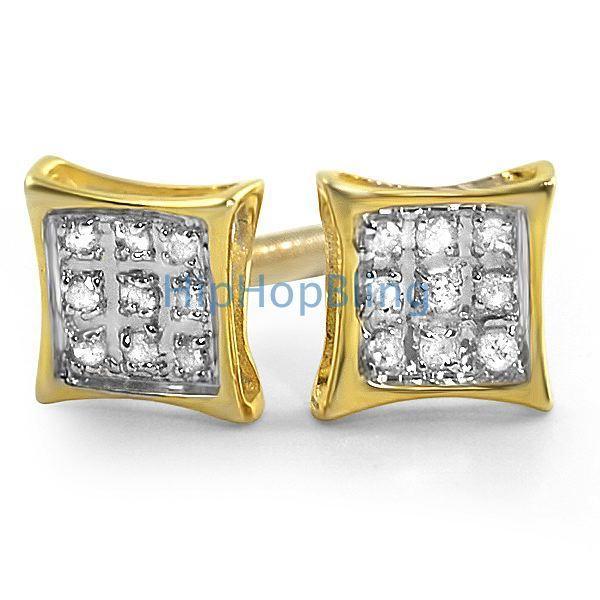 .05ct Diamond Kite Earrings Gold Vermeil