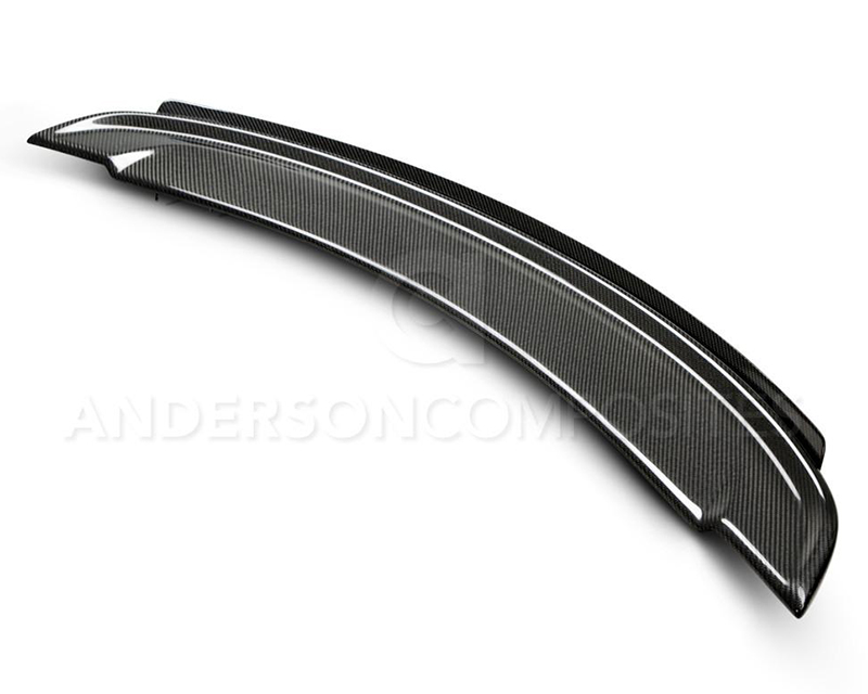 Anderson Composites AC-RS14CHCAM-Z28W Type-Z28 Carbon Fiber Rear Spoiler with Adjustable Wickerbill Chevrolet Camaro 14-15