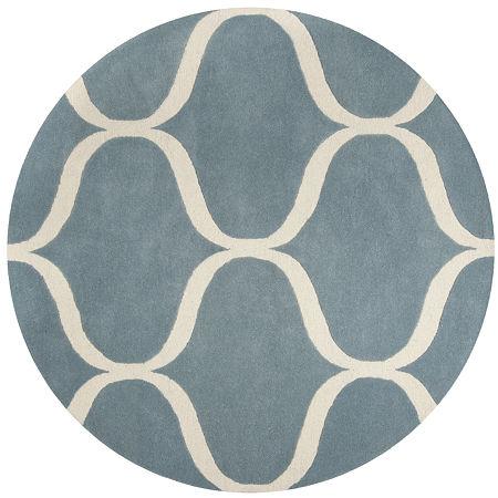 Safavieh Archibald Geometric Hand-Tufted Wool Rug, One Size , Blue