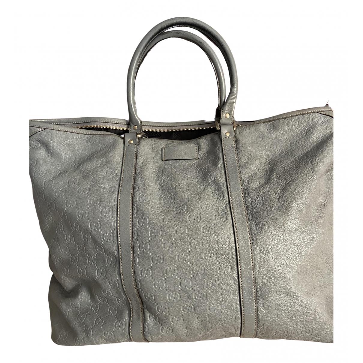 Gucci \N Grey Leather handbag for Women \N