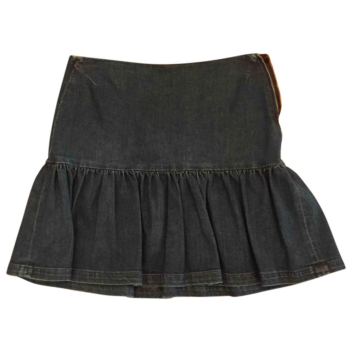 Maje \N Blue Cotton - elasthane skirt for Women 40 FR