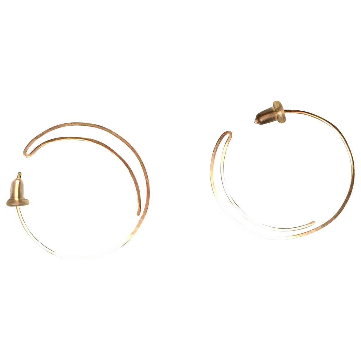 Non Signé / Unsigned Créoles Gold Gold plated Earrings for Women \N
