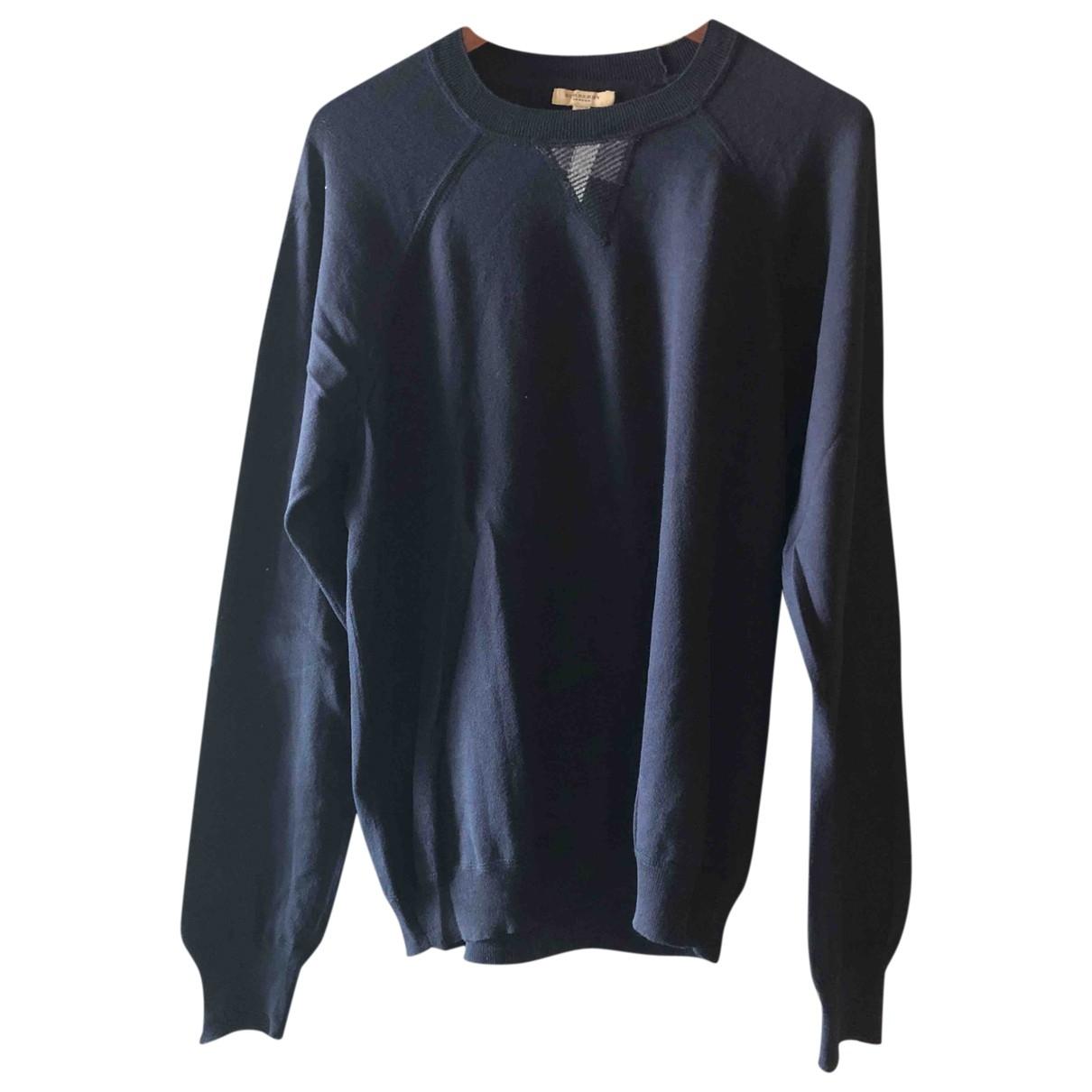 Burberry \N Navy Cotton Knitwear & Sweatshirts for Men M International