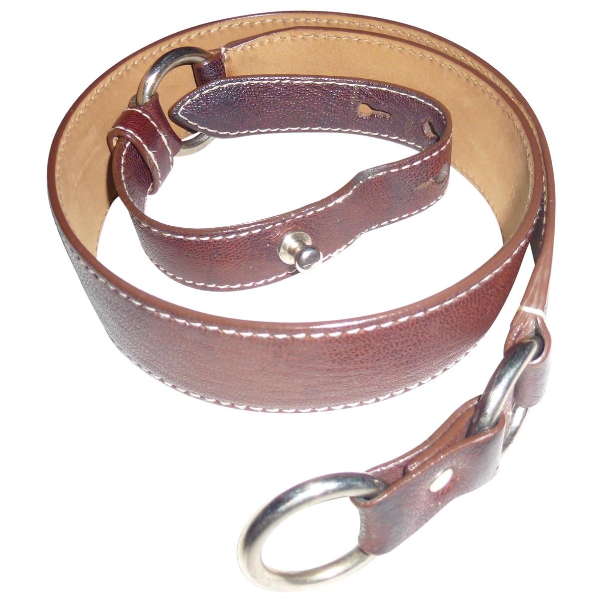 Jil Sander \N Brown Leather belt for Women 95 cm