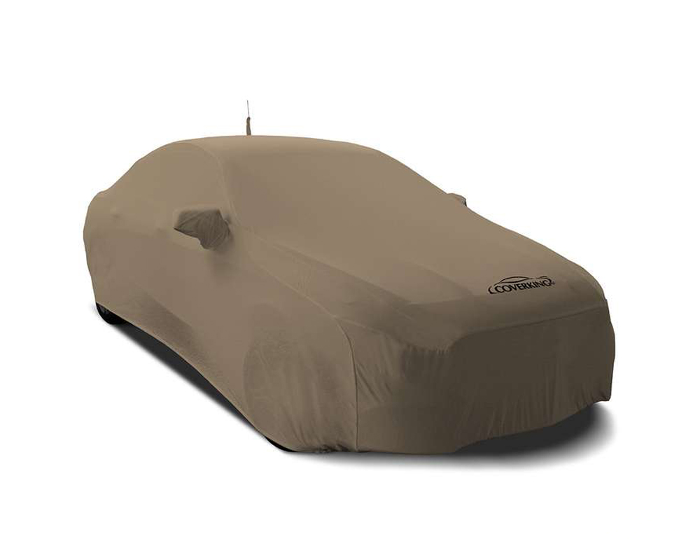 Coverking CVC4SS87CH9960 CVC4SS87 Satin Stretch Sahara Tan Custom Car Cover Chevrolet Malibu Limited 2016