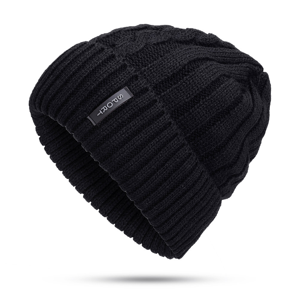 Men Winter Wool Knit Cap Warm Ear Thick Vogue Vintage Outdoor Casual Snow Ski Cycling Beanie