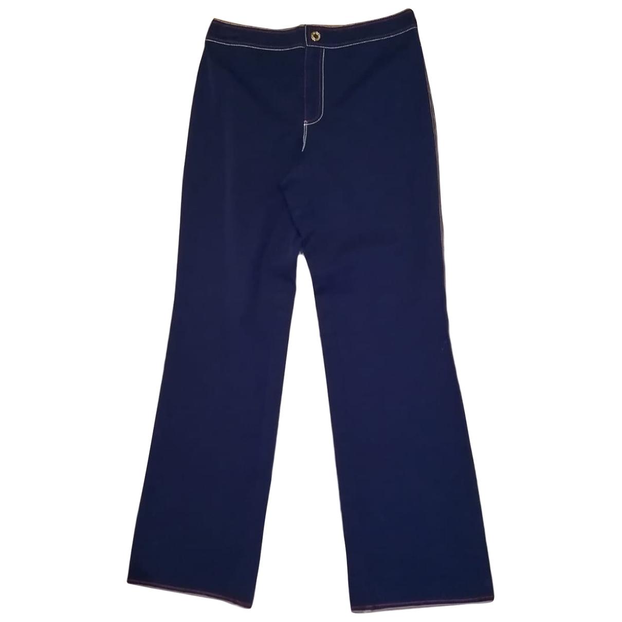 Ralph Lauren \N Blue Cotton Trousers for Women 6 US