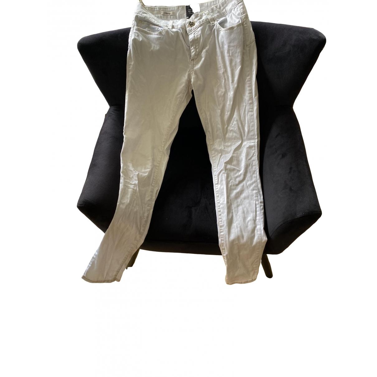 Twin Set \N Grey Cotton Trousers for Women 36 FR