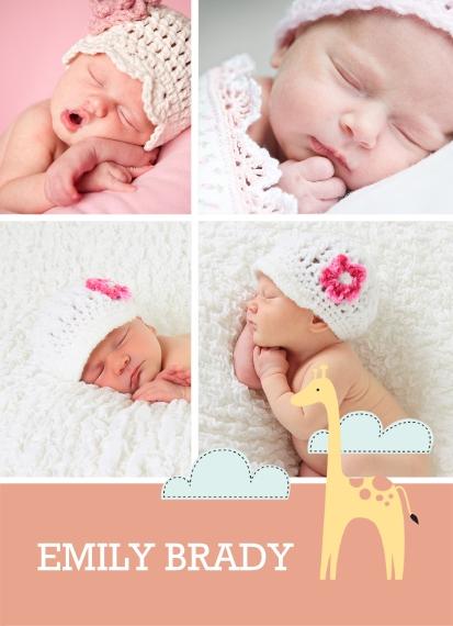 Full Photo 5x7 Wood Panel, Home Décor -Baby Giraffe