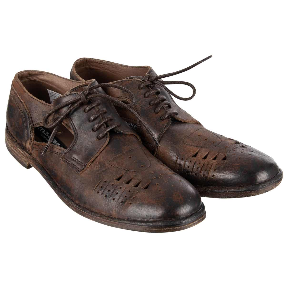 Dolce & Gabbana \N Brown Leather Lace ups for Men 44 EU