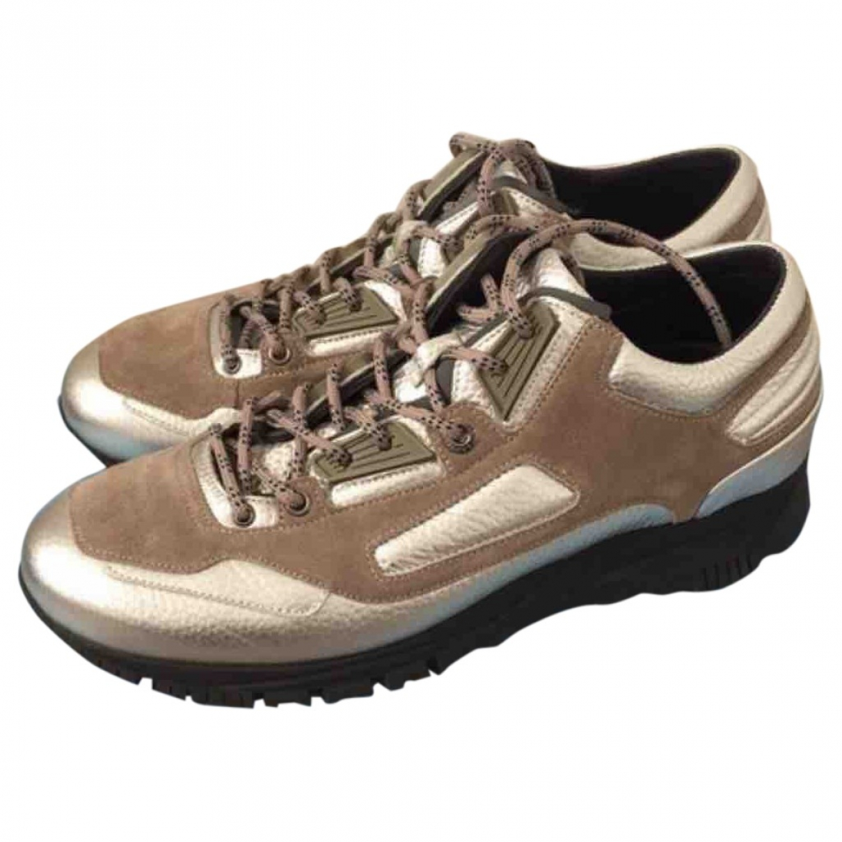 Lanvin \N Silver Cloth Trainers for Men 6 UK