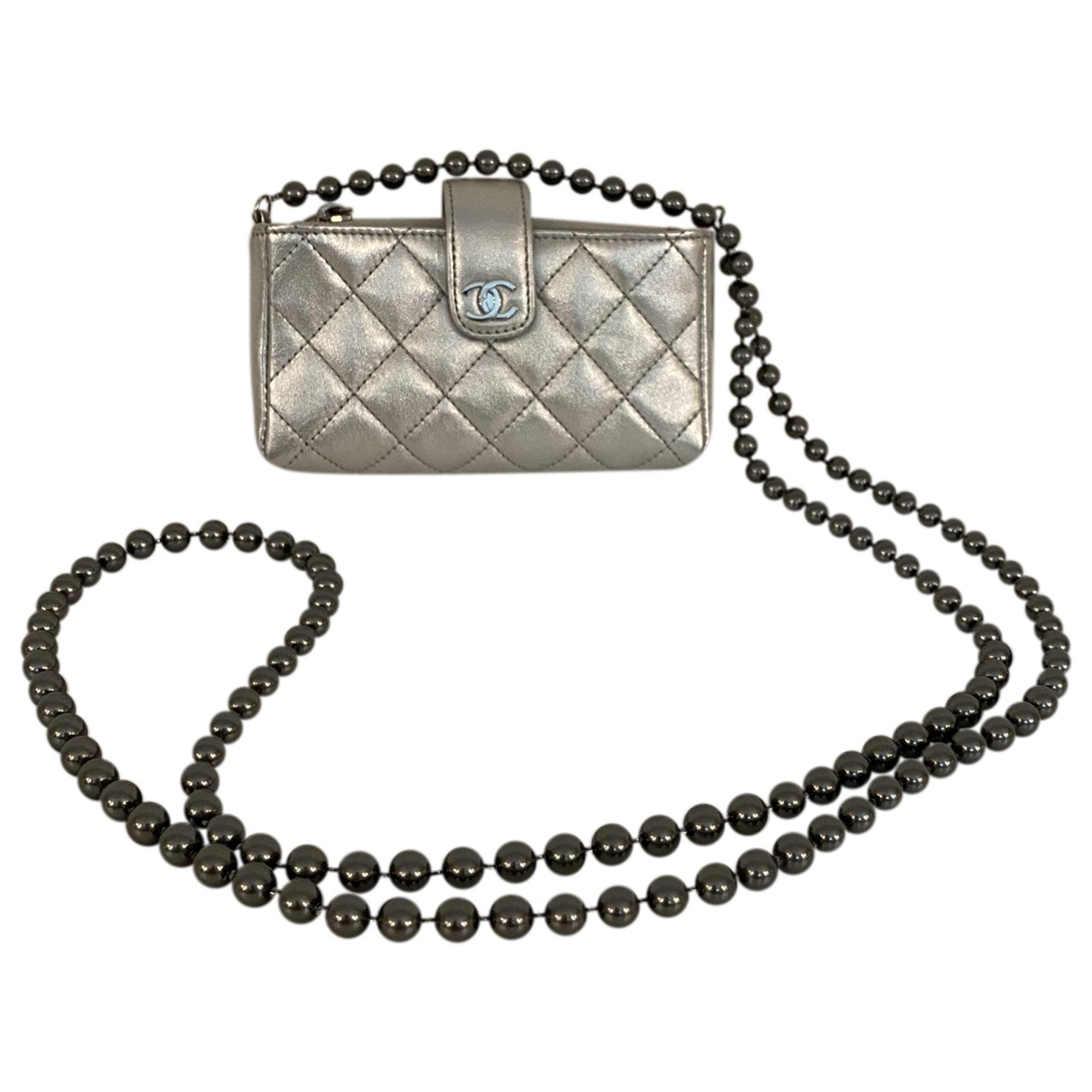 Chanel \N Silver Leather Purses, wallet & cases for Women \N